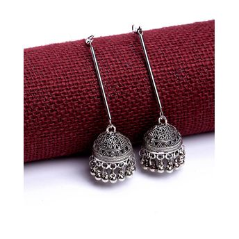 e7eed8662 Voylla Oxidized Jhumki Drop Earrings at Nykaa.com