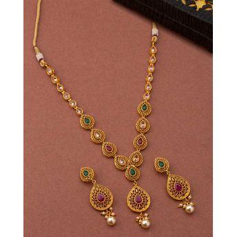 3590efa6a9f2f Voylla Gemstones Studded Necklace Set