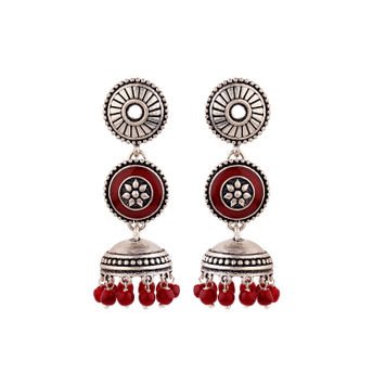 609802eea5 Voylla Rangabati Layered Maroon Beads Earrings at Nykaa.com