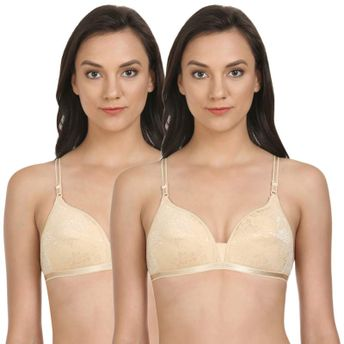 5d0733274ae Bodycare Lightly Padded T-Shirt Bra In Skin Color (Pack of 2) at ...