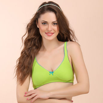 5a2d846f3 Buy Clovia Cotton Non-Wired Non-Padded Everyday Bra In Green With ...