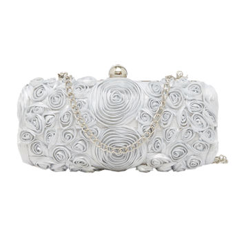 46373930a Tarusa Silver Rose Lace Box Clutch at Nykaa.com