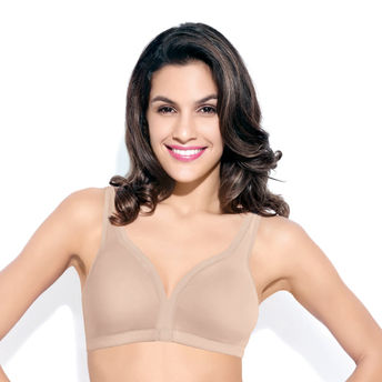 bfe406d5153 Enamor Non - Padded High Coverage Bra - Paleskin at Nykaa.com