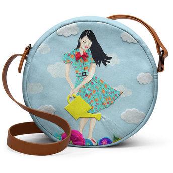 555a8eff79fe DailyObjects Girl In Flowerland - Orbis Crossbody Hand Bag