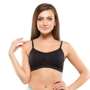 45d7c62ff Kate Single Padded Sports Bra - Black (Free Size) at nykaa.com