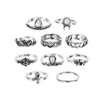 c60a2f3bc Ferosh Silver Knuckle Ring Set at Nykaa.com