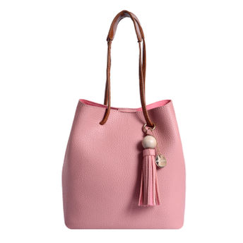 269276153237ea Lino Perros Faux Leather Pink Handbag at Nykaa.com
