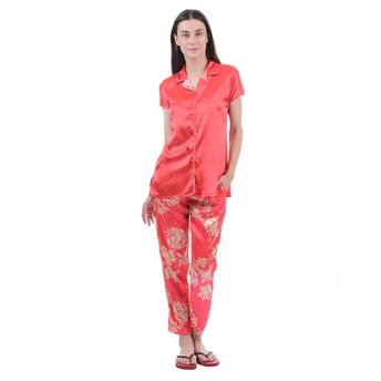 820b6ddb4 Sweet Dreams Women Half Sleeves Night Suit - Red at Nykaa.com