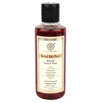 746d402a13324 Khadi Natural Thyme Henna Hair Tonic (Hair Regrowth Tonic. A Water Based  Product)(210ml)