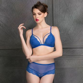 349a22926692 Home; Clovia Lace Non-Padded Cage Bra & Hipster - Blue. Wristwatch by Ted  Baker London
