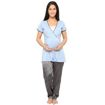99c86c7a095c7 Valentine Women Nightsuit For Pregnant / Feeding Women / Nursing ...