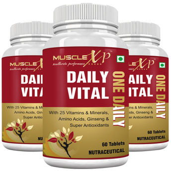 Musclexp Daily Vital One Daily Multi Vitamin 60 Tablets Pack Of 3 60 Tablets