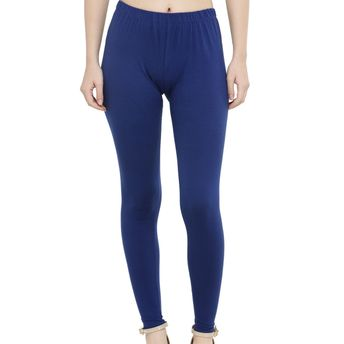 39b30f616 N-Gal Best Premium Quality Plain Cotton Lycra Blue Ankle Length ...