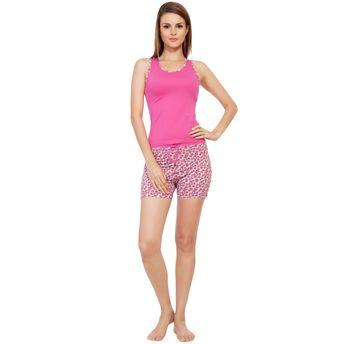 20ff0063cb S.O.I.E Sleeveless Night Suit - Pink 1 at Nykaa.com