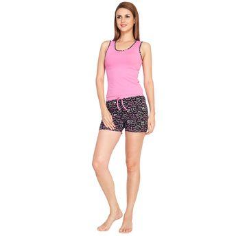 4f5b485694 S.O.I.E Sleeveless Night Suit - Pink (M)2 at Nykaa.com