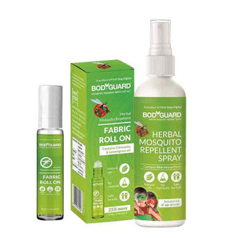 Bodyguard Mosquito Repellent Spray With Fabric Roll On