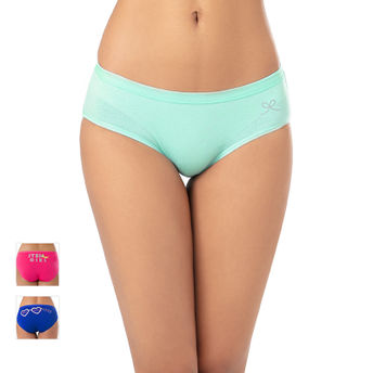 a5738792df9 Anusha For PrettySecrets Cotton Texty Panty Pack of 3 - Multi-Color ...