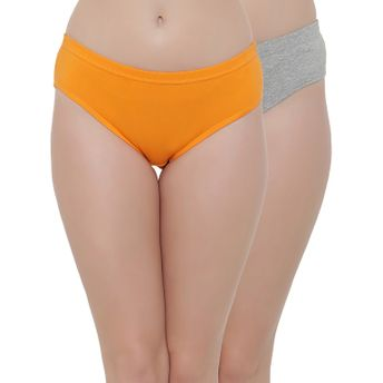 36d92f26071a Clovia Set Of Two Cotton Mid Waist Hipster Panty With Inner Elastic -  Multi-Color at Nykaa.com