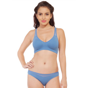b9002828e886 Home; S.O.I.E Molded Padded Bra And Matching Panty - Blue. Wristwatch by  Ted Baker London