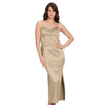 bd2c896cf Amante Adore Full Length Chemise - Nude (XL) at Nykaa.com