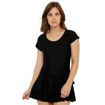51ab275bf2 Heart 2 Heart Half Sleeves Swim Dress - Black at Nykaa.com