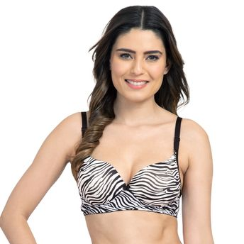 243933ba3 Tweens Thick Padded White Printed Wirefree T-shirt Bra - Multi-Color ...