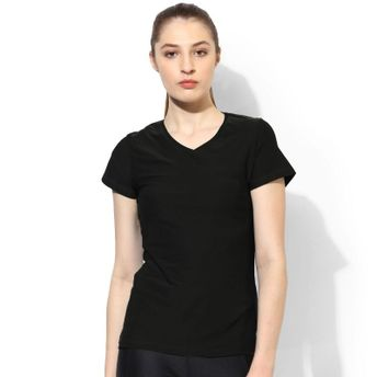 9b416359 Silvertraq Women's V Neck T-Shirt Black at Nykaa.com