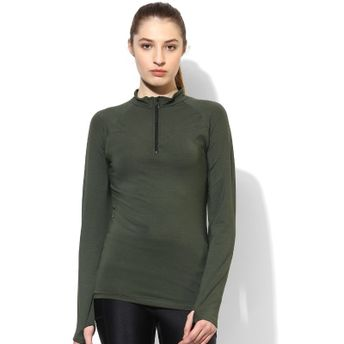 b0466eb9 Silvertraq Women's Thumb Hole T-Shirt Kombu Green at Nykaa.com