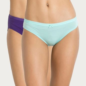 eac89ed511d7 Zivame Mid Rise Hipster Panty Pack Of 2- Purple N Aqua Blue at Nykaa.com