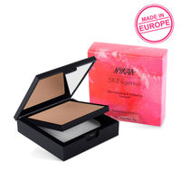 Nykaa SKINgenius Skin Perfecting & Hydrating Matte Powder Compact - Cosy Chestnut 04