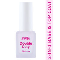Nykaa Nail Care - Double Duty 2-in-1 Top & Base Coat