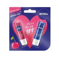 NIVEA Fruity Shine Cherry Lip Care + Free Original Lip Care