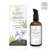 Juicy Chemistry Marula, Argan & Lavender Organic Hair Oil-For Hair Loss Control & Deep Conditioning