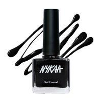 Nykaa Nail Enamel Polish - Black Licorice 84