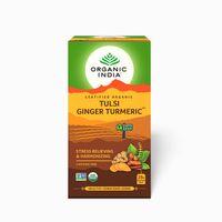 Organic India Tulsi Ginger Turmeric 25 Tea Bags