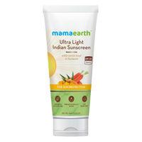Mamaearth Ultra Light India Sunscreen SPF50 PA+++ With Turmeric & Carrot Seed