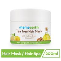 Mamaearth Anti Dandruff & Itchy Scalp Tea Tree Hair Mask With Tea Tree- Argan & Lemon Oil